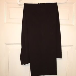 Chocolate straight legged pants w flat front front